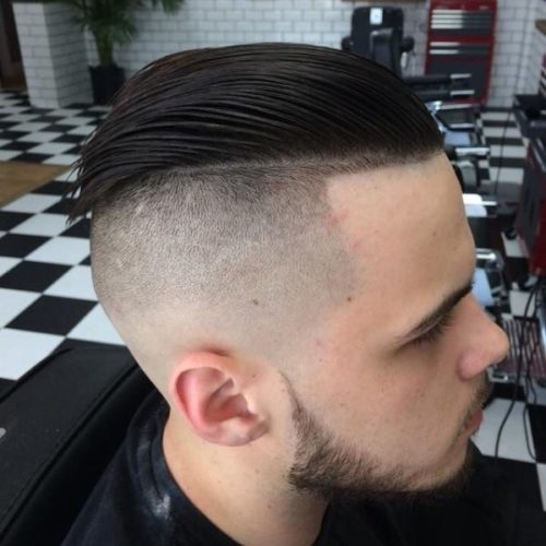 Modern Slicked Men's Haircut